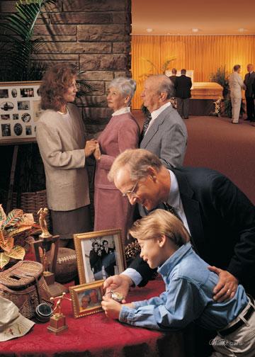 how to set up a memorial service