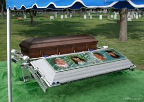 Wilbert Burial Vault Ovation Set Up: Calumet Wilbert